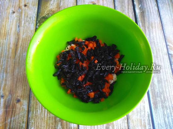 добавить порезанный чернослив