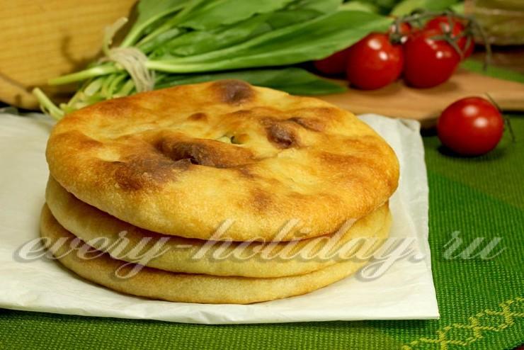 Осетинский пирог с картошкой и брынзой