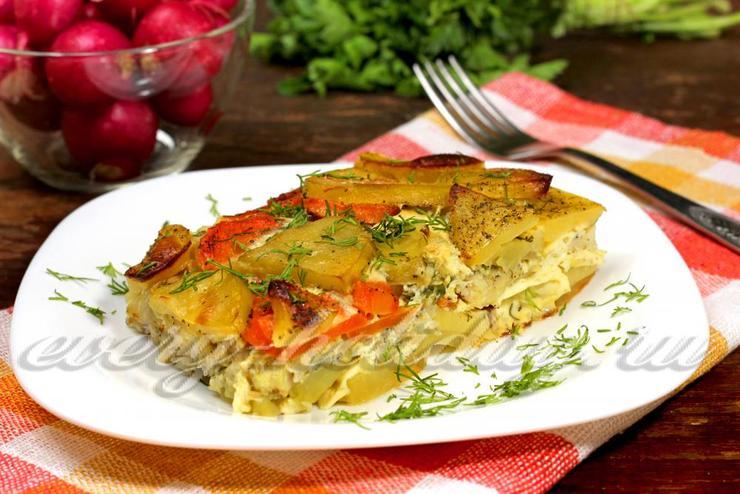 Рыбная запеканка с картофелем