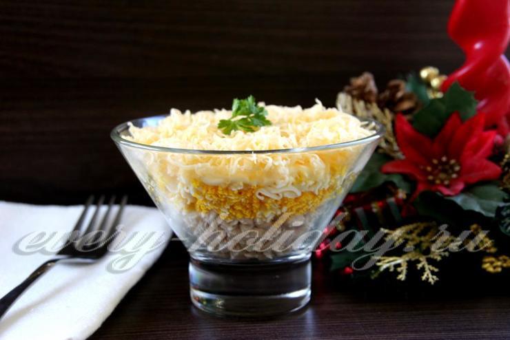 Новогодний салат «Воздушный»