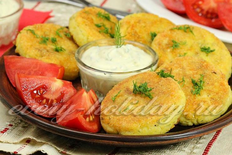 Несладкие сырники с картофелем и зеленью
