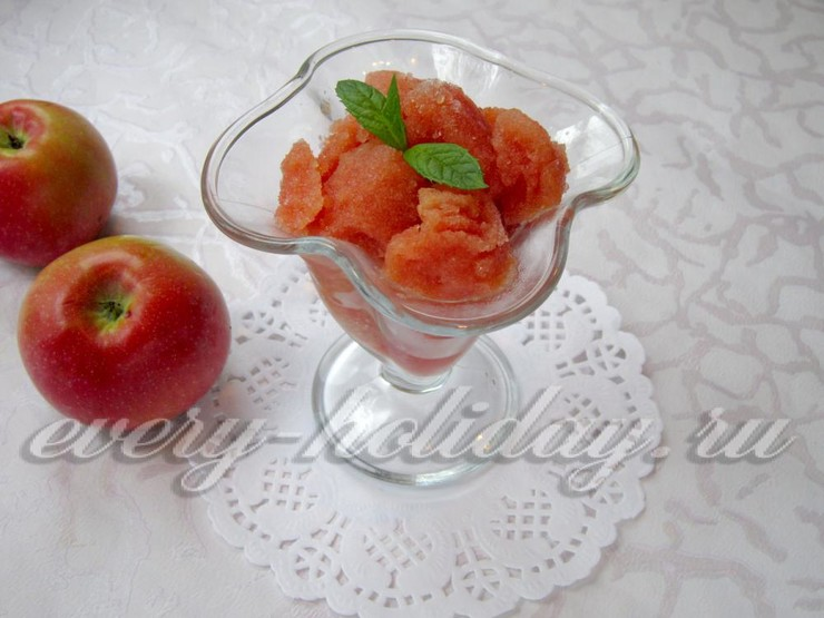 Сорбет из арбуза с яблоком