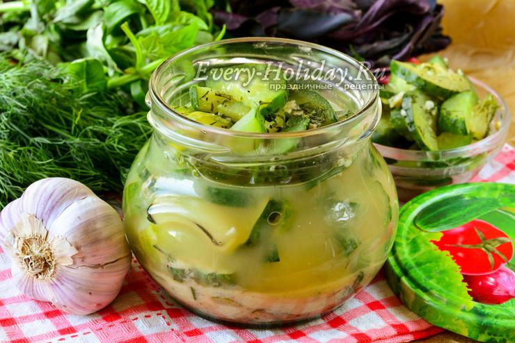 Салат из огурцов с горчицей без стерилизации на зиму