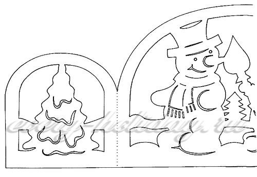 Новогодние окна своими руками из бумаги на окна фото 171