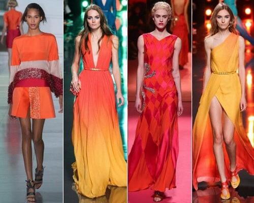 ярко оранжевое платье