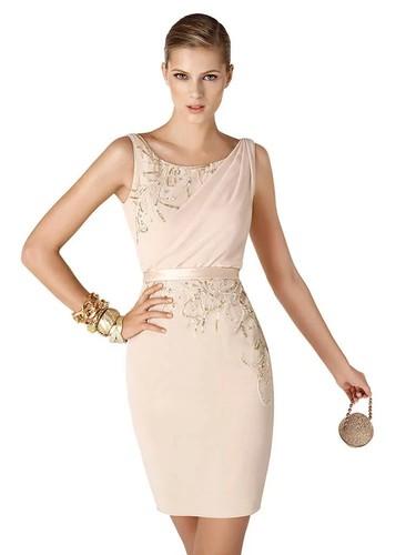 кремовое платье