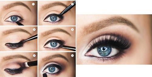 Макияж на Новый год 2021 для голубых глаз: пошаговое фото, модные тенденции